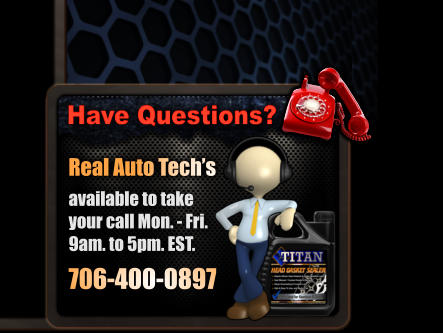 Real Auto Tech's  available to take your call Mon. - Fri. 9am. to 5pm. EST.  706-400-0897